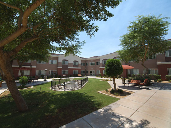 Independent Living Courtyard Sun City West Arizona