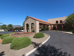 Assisted Living Building Entrance Sedona Winds Near Sun City West AZ