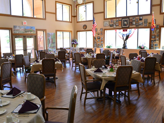 Assisted Living Dining Rooms At Sedona Winds