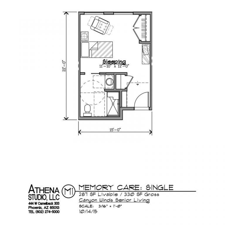 Memory Care Mesa Floorplan 1