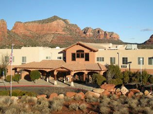 Assisted Living Building Entrance Sedona Winds Near