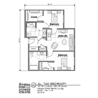Assisted Living 2 Bedroom Apartment Floorplans